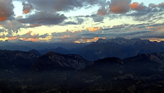 Tthe southern Rhaetian Alps at dusk (ab.130722jvkz) Tags: italy trentino alps rhaetianalps easternalps mountains sunset