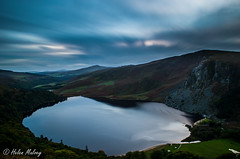 Lough Tay 16 October 16 1-2 (Helen Mulvey) Tags: lough tay wicklow ireland sunset movement clouds dusk height long exposure stacking nikon d5100 outdoor landscape rural water