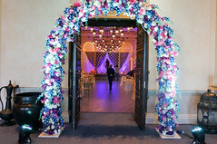 Entrance Arch Floral (Purrple Orryx) Tags: weddings wedding engagement setup ceremony fabrication staging backdrop decor decoration centrepc florals arch lighting av technical production jumeirah madinat 2016 october