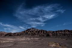 Cordillera de Sal (Piotr_PopUp) Tags: cordillera cordilleradelsal valledelaluna atacama sanpedrodeatacama salardeatacama antofagasta chile desert desierto landscape blue nature erosion rock cloud clouds