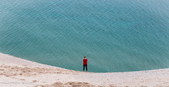 Contemplating (maureen.elliott) Tags: sand sanddunes michigan lakemichigan figure solitary edge outdoors nature view sleepingbeardunes
