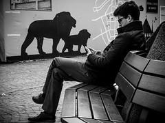 E10M0353 (SibretManu) Tags: streetphotography portrait street black white bw candid going moments decisive moment creative commons flickr flickriver explore eyed eye scene strassenfotografie fotografie city square squareformat photography