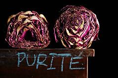 Purite (Studio d'Xavier) Tags: purite cabbage crosssection purple stilllife strobist