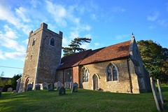 All Saint's Church, Little Bealings (DaveJC90) Tags: suffolk view landscape autumn field sunrise sunset sun sunny sunlight light bright sky blue cloud cloudy dark shadow dull walk walking afternoon path footpath littlebealings bealings village church allsaints old classic stone rock tree colour colours crop croped nikon d5100 digital slr camera zoom wide angle lens 1020mm 1855mm detail sharp sharpness