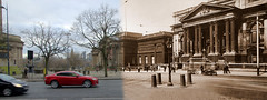 William Brown Street 1930s and 2016 panorama (Keithjones84) Tags: liverpool oldliverpool thenandnow history localhistory merseyside rephotography