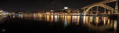 Oporto II (Jose Peral Merino) Tags: panormica oporto porto portugal ro douro duero reflejos agua cielo puente puerto barcos nocturna