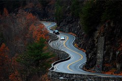 Hawk's Nest (Tatyana2016) Tags: hawksnest newyork route97 windingroad fall drive road nature november nyc trees red yellow mountains driving