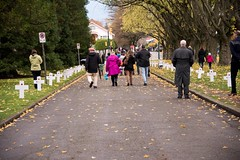 20161111_0068_1 (Bruce McPherson) Tags: brucemcphersonphotography remembranceday southmemorialpark southmemorialparkcenotaph cenotaph vancouverpolice vpd cadets marchpast march marching autumn fall fallleaves memorial vancouver bc canada