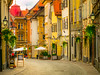 Streets Of Ljubljana (Pino Snorr) Tags: ilovepizza love urban balkan black city color couple green house ljubljana red slovenien street sun wife yellow panasonic lumix dmcg7 leica dg nocticron 425f12
