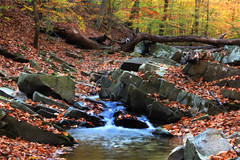 Water over Rocks (webmastermama71) Tags: serene waterfall runs creek water fall autumn leaves fallingleaves trees woods forest nature hiking trails virginia