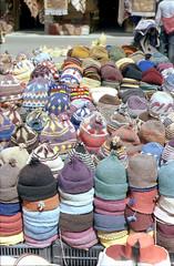 Hats in the souk (Loodoveeca) Tags: zenit122 film analog 35mm kodakcolorplus 200iso marrakech souk market hats marocco maroc