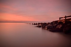 Morning has Broken (hall1705) Tags: morninghasbroken sunrise dawn pink groyne rocks longexposure westsussex water sea seascape seaside seadefence felpham d3200 sky nature outdoor calm beacheslandscapes