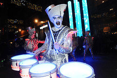 Spark Drummers (Alex Hannam) Tags: spark drummers leicester lights performance