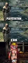 Skyrim Across The Platforms (Chikkenburger) Tags: memebase memes videogames video funny cheezburger chikkenburger