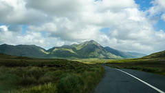 Journey in Connemara (Photography by a daydreamer) Tags: bleu ireland connemara road mountain light cloud trip travel sky landscape vert nature paysage national park montagne field