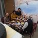 Café da manhã na pousada em Cholpan-Ata