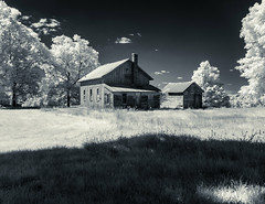Infrared, Barry County backroads, September 3, 2016. (bill.d) Tags: ruralmichigan sunny abandoned building infrared landscape farm 720nm architecture outdoor rural barrycounty ruraldecay michigan