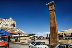 If we remembered them in time (Melissa Maples) Tags: rgp turkey trkiye asia  nikon d5100   nikkor afs 18200mm f3556g 18200mmf3556g vr kapadokya cappadocia townsquare blue sky clock clocktower