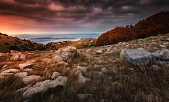 Down to the Sea (Croosterpix) Tags: landscape mountains sea rocks sky colors croatia nikond610 tamron