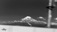 Mt. Fuji from the Shinkansen (Greg Tokyo) Tags: fuji japan 6d 2016 bw mount mountfuji monochrome monotone shizuoka snow clouds