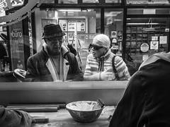 Senior Couple (Andreas Koppe) Tags: xz2 olympus window couple people bw blackandwhite