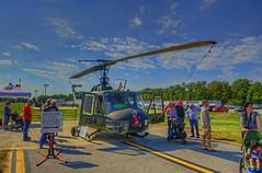 Bell UH-IM (Huey) Gunship helicopter (cmfgu) Tags: martinstateairport essex md maryland baltimorecounty openhouse fleetweek airshow bell uhim huey gunship helicopter glennlmartinmarylandaviationmuseum hdr highdynamicrange