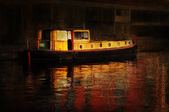 All Yellow.. (sbox) Tags: boat barge yellow dublin ireland painting painterly reflections