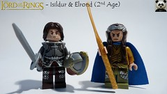 Isildur & Elrond (2nd Age) (Random_Panda) Tags: lego figs fig figures figure minifigs minifig minifigures minifigure purist purists character characters film films movie movies television tv lord of the rings lotr hobbit gondor middle earth middleearth tolkien elrond 2nd second age isildur knight fantasy