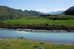 Huge land changes around Waiau following the New Zealand earthquake (beyondhue) Tags: new zealand south island waiau river lewis pass road beyondhue green pastures sheep travel earthquake earth feature