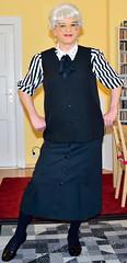 Ingrid020202 (ingrid_bach61) Tags: skirt mature button waistcoat pleated weste faltenrock bowblouse schleifenbluse durchgeknpft