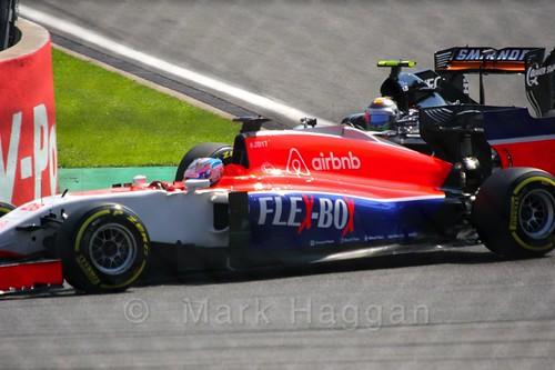 Will Stevens in qualifying for the 2015 Belgium Grand Prix