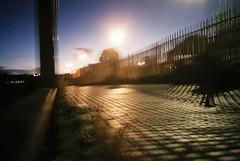 Chocolate Path, blurred (knautia) Tags: uk england film bristol fuji superia olympus ishootfilm xa2 september olympusxa2 footpath 400iso riveravon 2015 chocolatepath xa2roll160