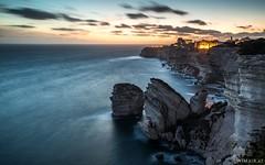 Bonifacio <3 (Wim Air) Tags: blue red sea cliff sun seascape france water clouds landscape rocks long exposure sundown time corsica bernhard dun bonifacio wimmer korsika wimairat