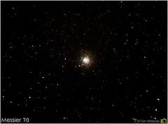 Globular Cluster M70 (The Dark Side Observatory) Tags: black night ball dark stars timelapse space cluster science sagittarius astrophotography round astronomy messier deepspace celestron corel lightroom astronomer globularcluster globular deepsky m70 imagesplus canon6d ioptron tomwildoner leisurelyscientist leisurelyscientistcom