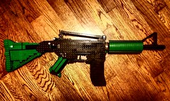 LEGO M4A1. (Keaton FillyDing) Tags: game brick modern us gun lego military rifle assault gamer modular figure guns minifig custom minifigure moc blackops callofduty m4a1 mw2 mw3 weapong brickarms citizenbrick eclipsegraphx