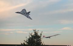 Concorde & Vulcan (paul_appleyard) Tags: 2003 october aircraft wing delta landing concorde vulcan 2015 xh558