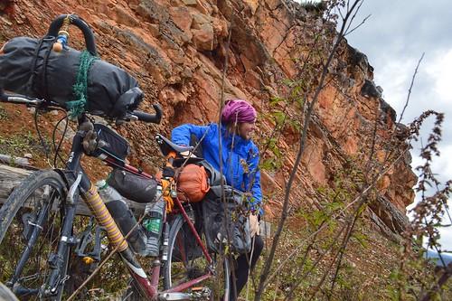 Break at rocks in Yunnan Province China