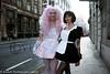 New Dresses (claudiatmuk) Tags: sexy stockings fetish french drag wig satin tatoo maid petticoat