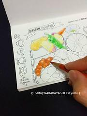 2015_12_05_nagata_01_s (blue_belta) Tags: japan bento japanesefood bentou coloredpencil washoku 弁当 色鉛筆 島根 和食 出雲 懐石 スケッチ wasyoku travelersnotebook トラベラーズノート