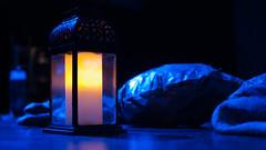 (Eva Garmendia) Tags: blue lights theater candle olympus frankenstein acting actor lantern e3 summilux 25mm uppsalastadsteater