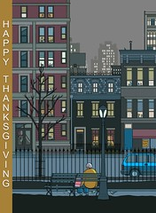 Happy Thanksgiving (carajomundo1) Tags: thanksgiving holiday newyork buildings magazine sadness loneliness pigeons sharing lonely