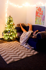 IMG_2918-2 (annettiespaghetti) Tags: christmas trees decorations light tree colors photography lights colorful pretty bright sleep candid lounge christmastree christmaslights livingroom sleepy teen ornaments blanket t5 snapshots lounging lit asleep decor decorate decorated