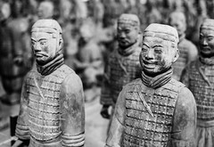 Terracotta Army (unflux) Tags: china light shadow sculpture texture army terracotta chinese statues figures