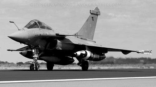 Rafale In Black And White.