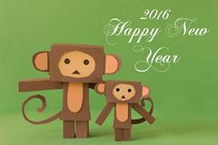 Happy New Year! (Arielle.Nadel) Tags: cute monkey newyear happynewyear yearofthemonkey yotsuba 2016 danbo toyphotography revoltech danboard