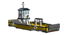 LEGO 60119 Ferry reverse-engineered! (RS 1990) Tags: city ferry lego ldd recreated digitaldesigner 60119 reverseengineered