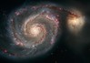 Whirlpool Galaxy (sjrankin) Tags: edited nasa m51 hst hubblespacetelescope whirlpoolgalaxy 18december2015