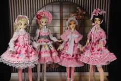 Lolita style dress by GGDollFashions (ggdollfashions) Tags: print japanese sd bjd volks sdgr sweetlolita dollfiedream japanesecotton sd16 lolitastyle ggdollfashions