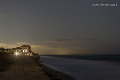 Starry Beach House (strjustin) Tags: longexposure nightphotography beach beautiful canon stars 50mm florida 50mm14 beachhouse verobeach