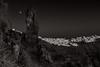 Moorise Over Fira (Marshall Ward) Tags: santorini moon moonrise greece aegeansea landscape sunset marshallward mwardphotographycom mono fira nikond800 afszoomnikkor2470mmf28ged 2016